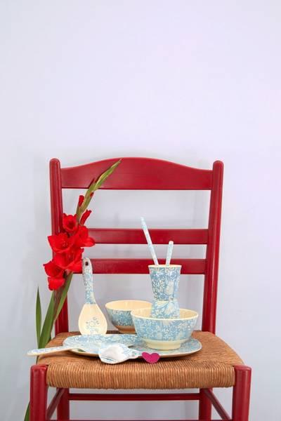Bilde av LITEN BOLLE - Blå Blomster Print - Rice
