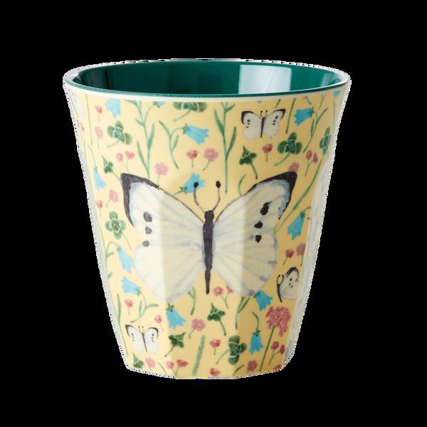 Bilde av KOPP - Mild Gul - Butterfly Print - Rice