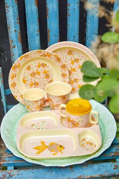 Bilde av BARNEASJETT - Goldfish Print - Rice