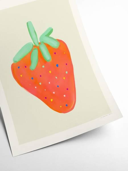 Bilde av PLAKAT - Maxime - Strawberry Dip - 30x40