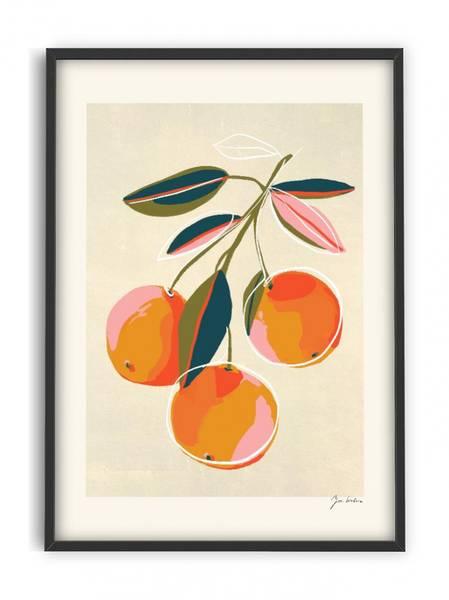 Bilde av PLAKAT - Zoe - Oranges - 30x40