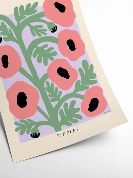 Bilde av PLAKAT - Madelen - Pastel Poppies - 50x70
