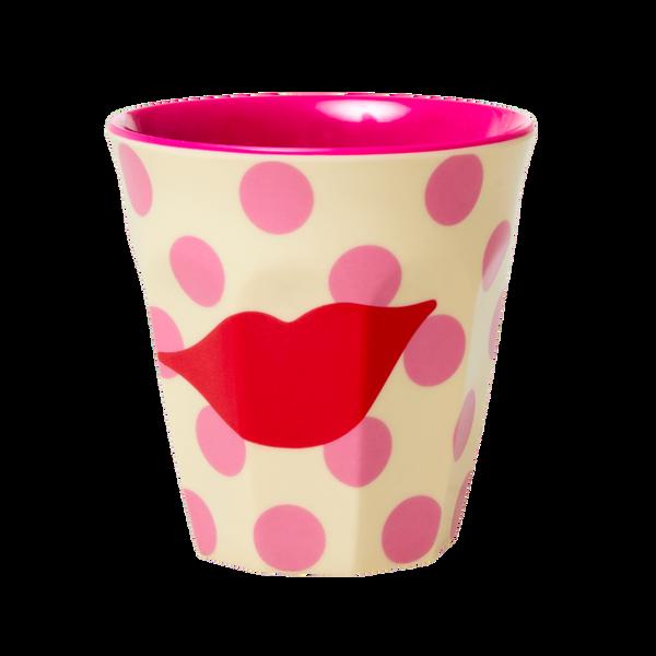 Bilde av KOPP - Pink - Kiss Print - Rice