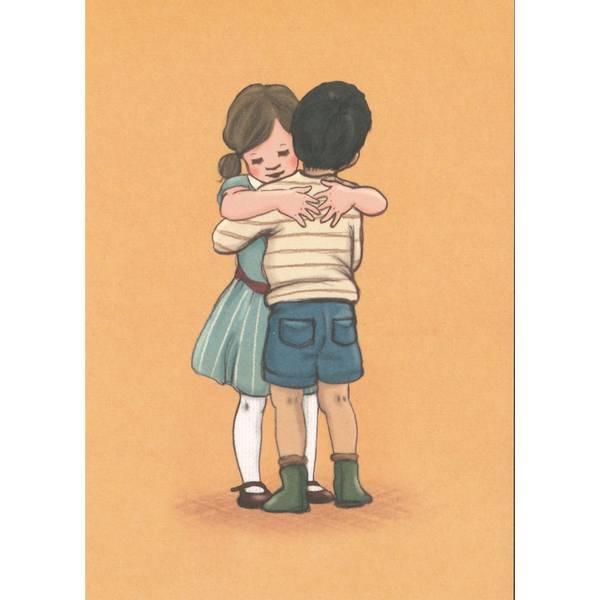 Bilde av KORT - Lets hug - Belle & Bo
